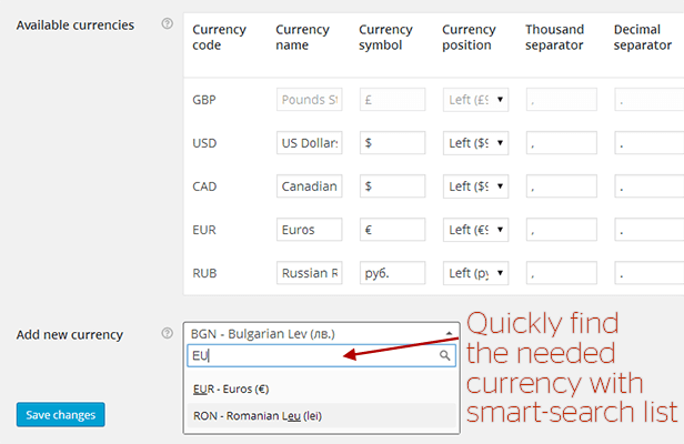 WooCommerce All in One Currency Converter